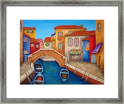 Burano Framed Print by Pamela Allegretto