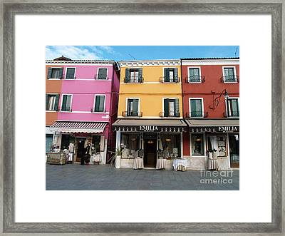 Framed Print featuring the painting Burano by Robin Maria Pedrero