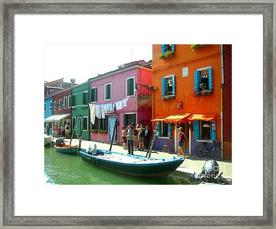 Burano Tourists Framed Print by Europe  Travel Gallery