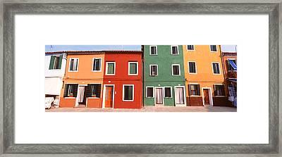 Burano, Venice, Italy Framed Print