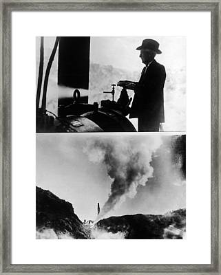 Burbank And The Sonoma Geysers Framed Print