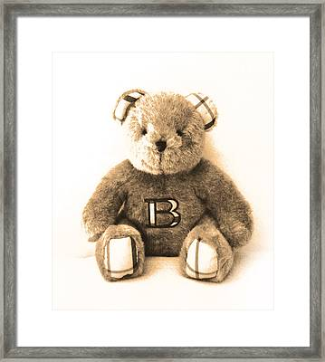 Burberry Bear Framed Print by Gina Dsgn