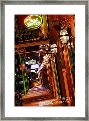 Burbon St Framed Print