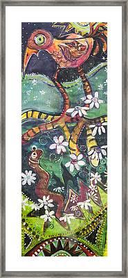 Burden Worm Framed Print by Leela Payne