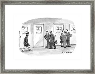 Bureaus Of Dangerous Stuff Etc Framed Print by M.K. Brow