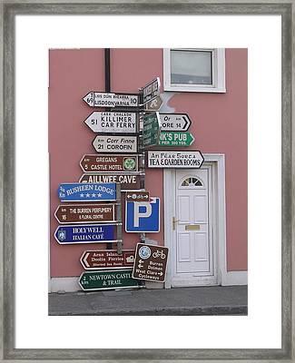 Buren Signs Framed Print