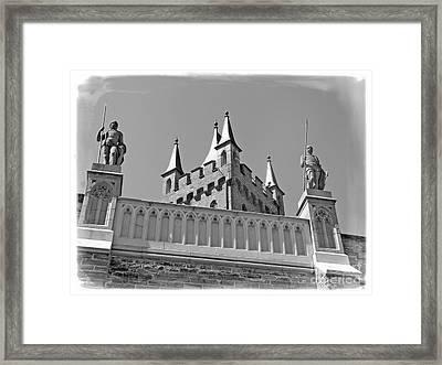 Framed Print featuring the photograph Burg Hohenzollern by Carsten Reisinger