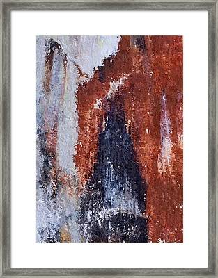 Framed Print featuring the digital art Burgundy And Black by Heidi Smith