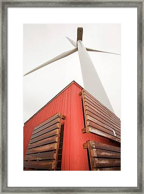 Burgar Hill Wind Farm Framed Print