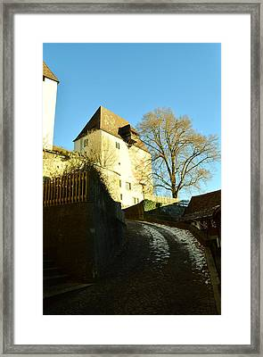 Framed Print featuring the photograph Burgdorf Castle In December by Felicia Tica