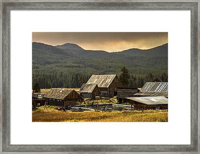 Burgdorf Hot Springs In Idaho Framed Print