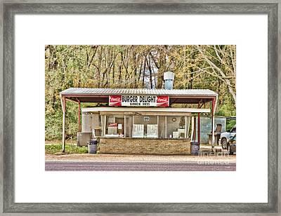 Burger Delight Framed Print by Scott Pellegrin
