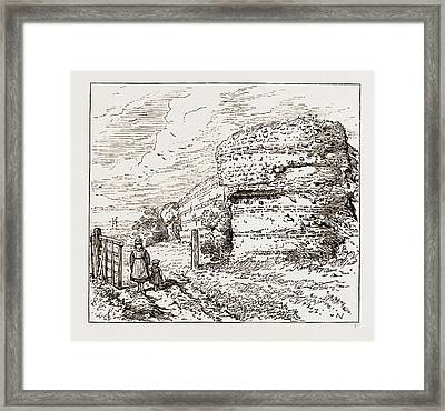 Burgh Castle, Social Science Congress At Norwich Uk 1873 Framed Print by Litz Collection
