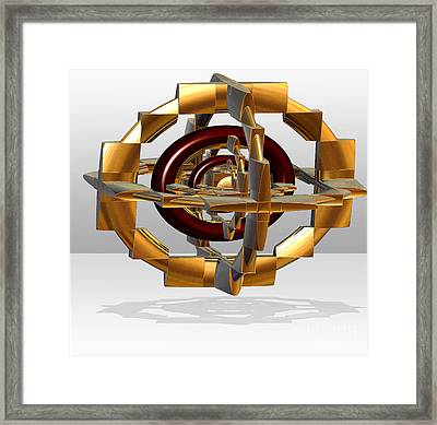 Framed Print featuring the digital art Burgundy And Gold by Melissa Messick