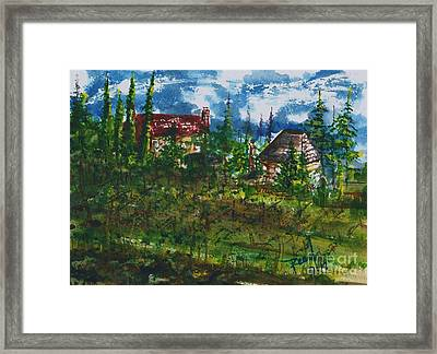 Burgundy In The Morning  Framed Print