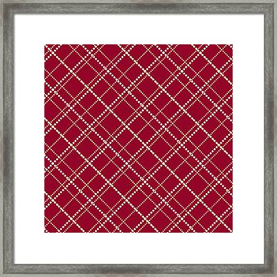 Burgundy Pattern Framed Print by Christina Rollo