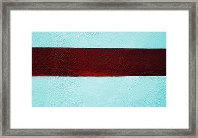 Burgundy Stripe Framed Print by Marcia Lee Jones