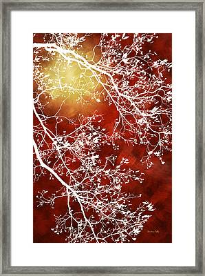Burgundy Tree Abstract Framed Print