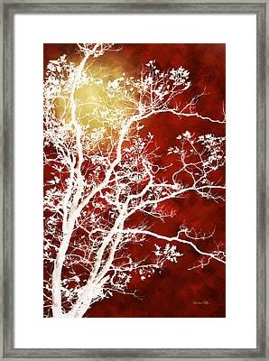 Burgundy Tree Art Framed Print
