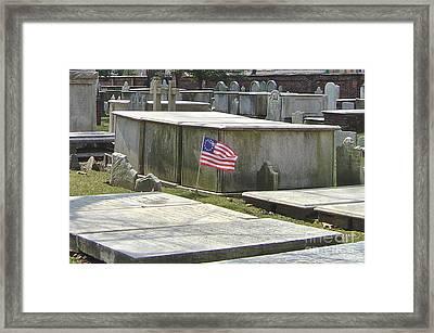 Old Burial Grounds Philadelphia Framed Print by Pam Schmitt