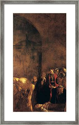 Burial Of St Lucy Framed Print by Caravaggio