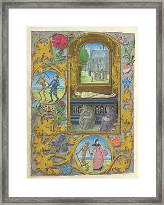Burial Scene Framed Print by British Library