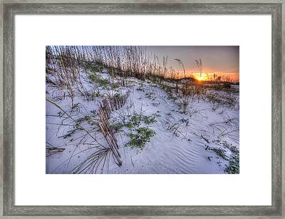 Framed Print featuring the digital art Buried Fences by Michael Thomas