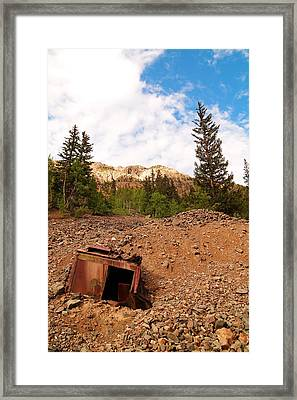 Buried Mining Equipment Framed Print by Jeff Swan