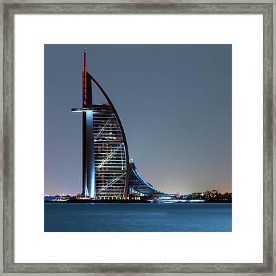 Burj Al Arab Hotel Framed Print by Babak Tafreshi