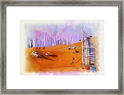 Burj Arab Skyline Framed Print by Corporate Art Task Force