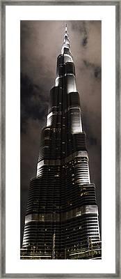 Burj Khalifa Framed Print by Corinne Rhode
