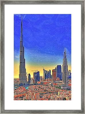 Burj Khalifa Dubai United Arab Emirates 20130426 Framed Print by Wingsdomain Art and Photography
