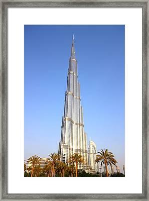 Burj Khalifa Framed Print by FireFlux Studios