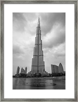 Framed Print featuring the photograph Burj Khalifa by Robert  Aycock