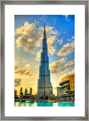 Burj Khalifa Framed Print by Syed Aqueel