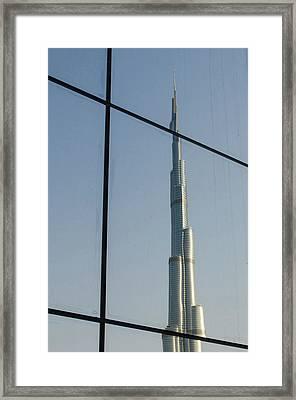 Burj Khalifa The Tallest Building Framed Print by Michael Defreitas