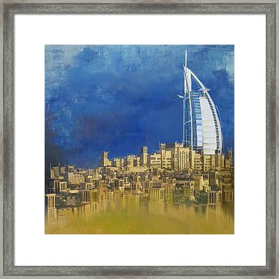 Burj Ul Arab Contemporary Framed Print by Corporate Art Task Force