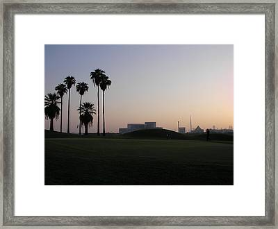Burj -view From Golf Course Framed Print by Sunil Palayil