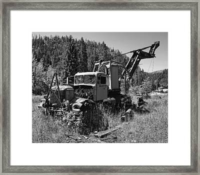 Burke Idaho Logging Truck 2 Framed Print by Daniel Hagerman