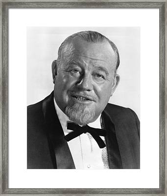 Burl Ives In The Hollywood Palace  Framed Print by Silver Screen