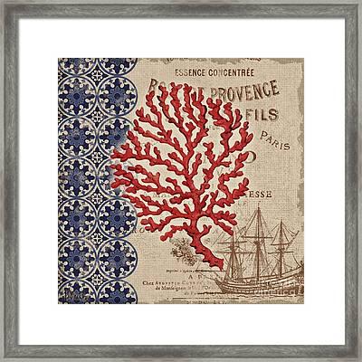 Burlap Coral IIi Framed Print by Paul Brent