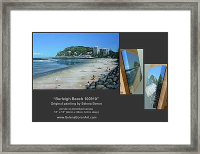 Burleigh Beach 100910 Comp Framed Print by Selena Boron