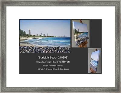Burleigh Beach 210808 Framed Print by Selena Boron