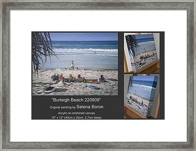 Burleigh Beach 220909 Framed Print by Selena Boron