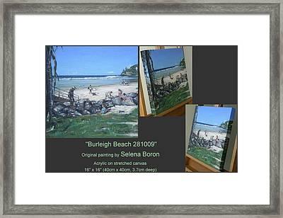 Burleigh Beach 281009 Framed Print by Selena Boron