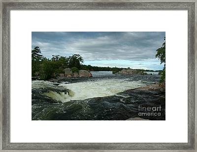 Framed Print featuring the photograph Burleigh Falls by Barbara McMahon