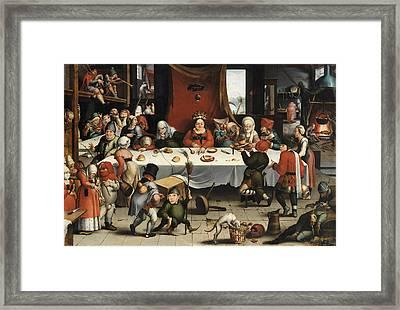 Burlesque Feast Framed Print by Jan Mandijn