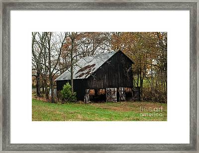 Framed Print featuring the photograph Burley Tobacco  Barn by Debbie Green