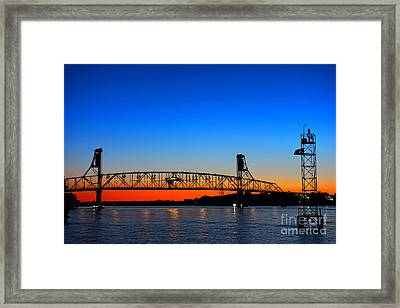 Burlington Bristol Bridge Framed Print by Olivier Le Queinec