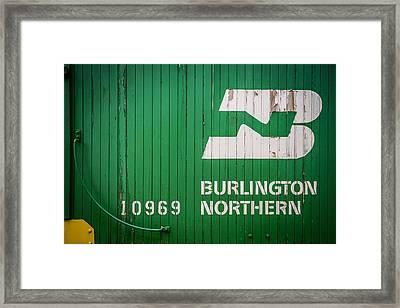 Burlington Northern Logo Framed Print by Paul Freidlund